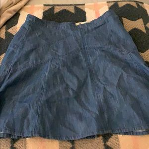 Madewell denim a-line skirt